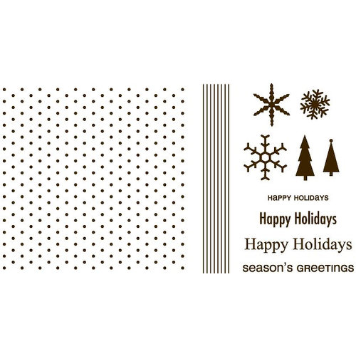 We R Memory Keepers - Letterpress - Printing Plate Set 4 - Holiday