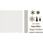 QuicKutz - Letterpress - Printing Plate Set 4 - Holiday
