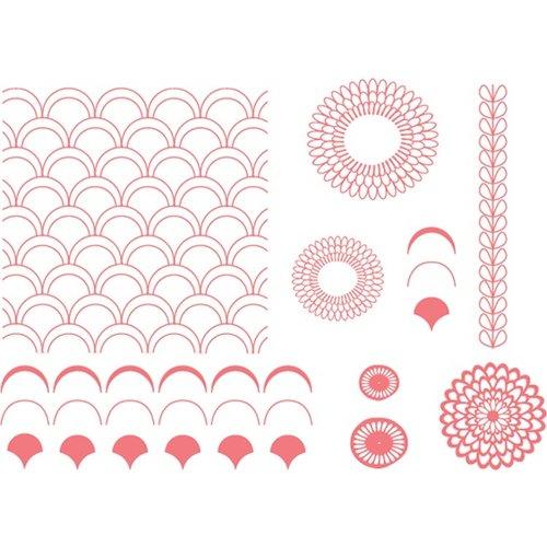 We R Memory Keepers - Letterpress - Printing Plate Set - Petals