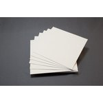 Lifestyle Crafts - Letterpress - Paper - Square Flat - Cream