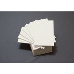 Lifestyle Crafts - Letterpress - Paper - Mini Flat - Thick - Cream