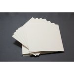 We R Memory Keepers - Letterpress - Paper - Square Flat - Thick - Cream