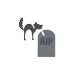 Lifestyle Crafts - Halloween - Die Cutting Template - Tombstone and Cat