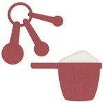 QuicKutz - Revolution Dies - Measuring Cup and Spoons, CLEARANCE