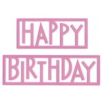 Lifestyle Crafts - Die Cutting Template - Happy Birthday
