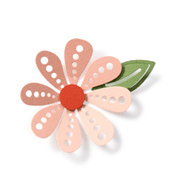 QuicKutz - Revolution - 4 x 4 Shape Dies - 8 Petal Flower