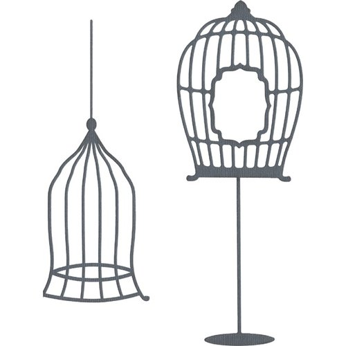 Lifestyle Crafts - Die Cutting Template - Bird Cages