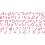 QuicKutz - All-on-One Mini Unicase Alphabet Die Set - Rollerskate