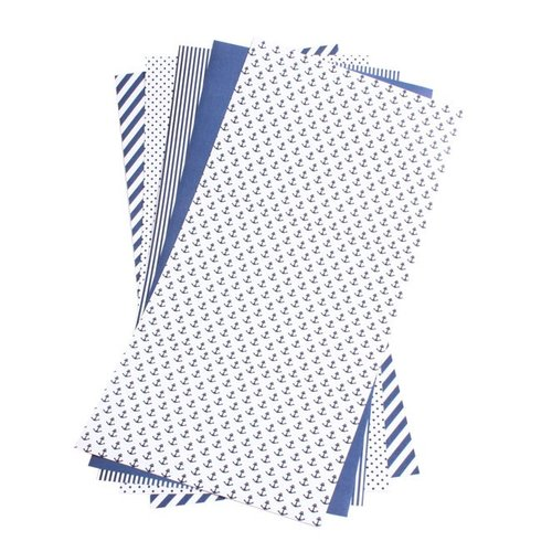 Lifestyle Crafts - Shape 'N Tape - 6 x 12 Decorative Adhesive Sheets - Navy