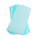 We R Memory Keepers - Shape N Tape - 6 x 12 Decorative Adhesive Sheets - Teal Blue