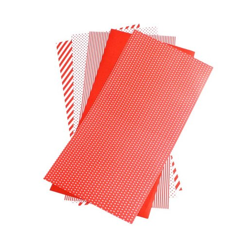 Lifestyle Crafts - Shape 'N Tape - 6 x 12 Decorative Adhesive Sheets - Red