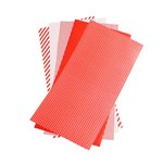 We R Memory Keepers - Shape N Tape - 6 x 12 Decorative Adhesive Sheets - Red