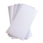 We R Memory Keepers - Shape N Tape - 6 x 12 Decorative Adhesive Sheets - Silver