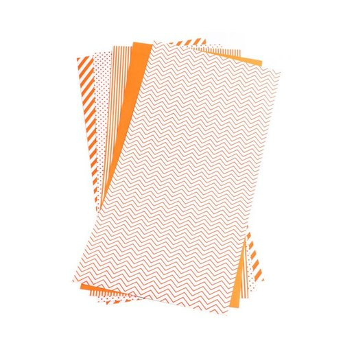 We R Memory Keepers - Shape N Tape - 6 x 12 Decorative Adhesive Sheets - Orange