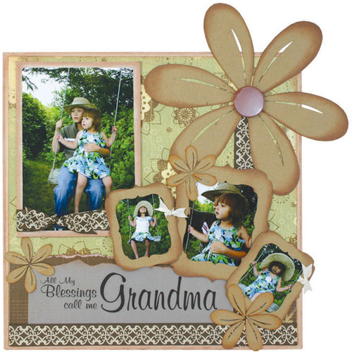 Quick Quotes - Home Decor Collection - Wall Hanging Canvas Kit - Moments, Grandma or Grandpa, CLEARANCE