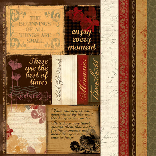 Quick Quotes - Christmas Collection - 12 x 12 Paper - Cracklin' Rose Phrases