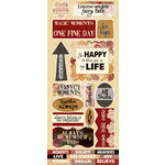 Quick Quotes - Cracklin Rose Collection - Die Cut Cardstock Stickers