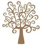 Quick Quotes - Fall Collection - Chipboard Laser Die Cut Pieces - Whimsical Tree