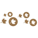 Quick Quotes - Fall Collection - Bag O'Chips - Chipboard Laser Die Cut Pieces - Fall Leaves
