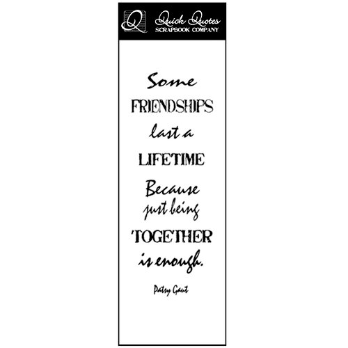 Quick Quotes - Summer Breeze Collection - Vellum Quote Strip - Some Friendships