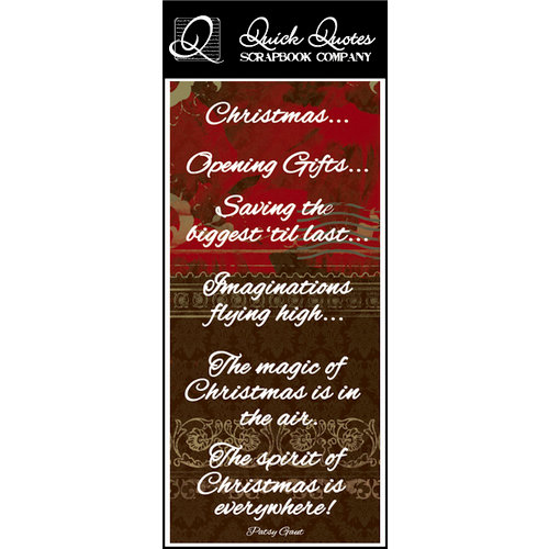 Quick Quotes - Christmas Collection - Color Vellum Quote Strip - Christmas