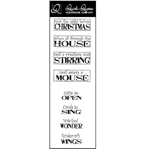 Quick Quotes - Christmas Collection - Vellum Quote Strip - Twas the Night