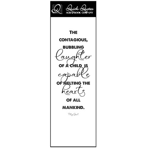 Quick Quotes - Just Because Collection - Vellum Quote Strip - Bubbling Laughter