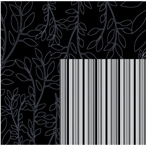 Quick Quotes - Paint it Black Collection - 12 x 12 Double Sided Paper - Fall Branches, CLEARANCE