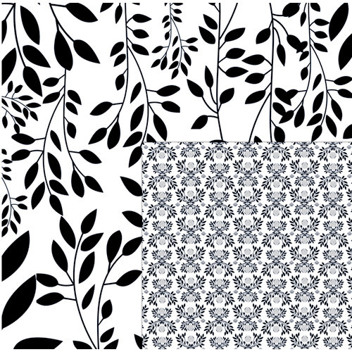 Quick Quotes - Paint it Black Collection - 12 x 12 Double Sided Paper - Winter Branches, CLEARANCE