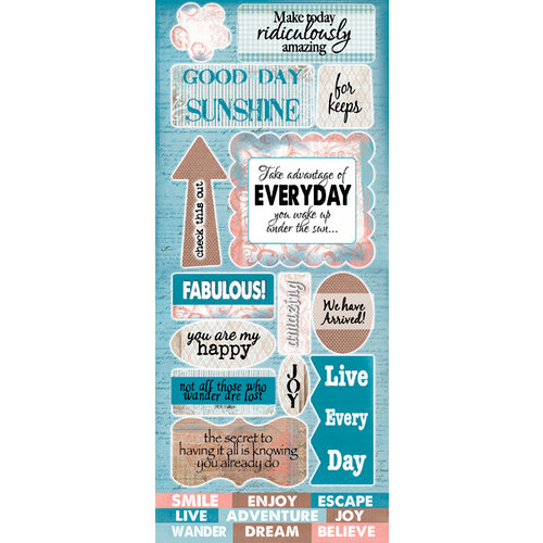 Quick Quotes - Stowaway Collection - Die Cut Cardstock Stickers