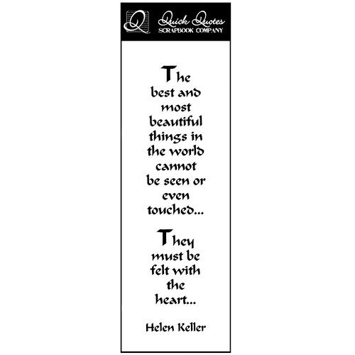 Quick Quotes - Summer Breeze Collection - Vellum Quote Strip - The Best And Most