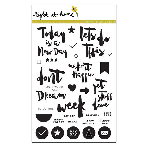 Right At Home - Clear Acrylic Stamps - Get Stuff Done