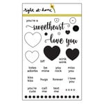 Right At Home - Clear Acrylic Stamps - Kiss Kiss