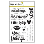 Right At Home - Clear Acrylic Stamps - Be Mine