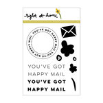 Right At Home - Clear Acrylic Stamps - Happy Mail