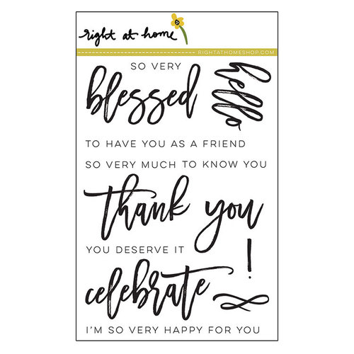 Right At Home - Clear Acrylic Stamps - Script Greetings