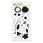 Right At Home - Clear Acrylic Stamps - Abstract Florals