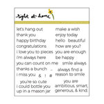 Right At Home - Clear Acrylic Stamps - Tiny Sentiments