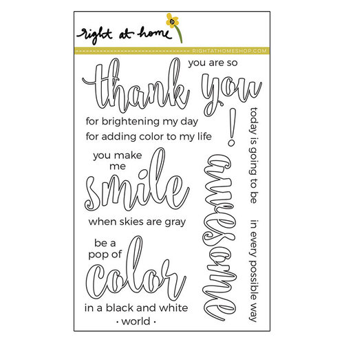 Right At Home - Clear Acrylic Stamps - Color In Sentiments