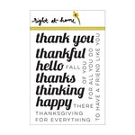 Right At Home - Clear Acrylic Stamps - Fall Sentiments
