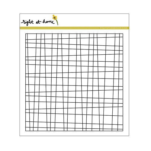 Right At Home - Cling Rubber Stamps - Grid Background Stamp