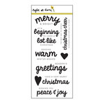 Right At Home - Clear Acrylic Stamps - Christmas Sentiments
