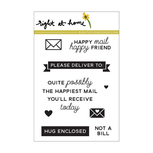 Right At Home - Clear Acrylic Stamps - Happy Mail Year 2