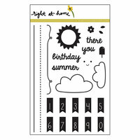 Right At Home - Clear Acrylic Stamps - Banner Alphabet Add-On