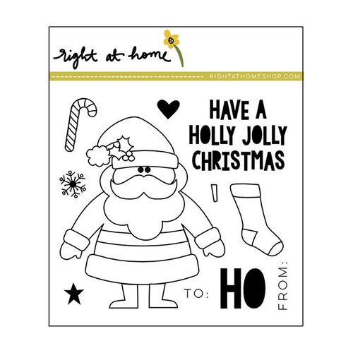 Right At Home - Clear Acrylic Stamps - Holly Jolly Christmas