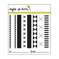 Right At Home - Clear Acrylic Stamps - Holiday Ribbons