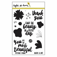 Right At Home - Clear Acrylic Stamps - Find the Beauty