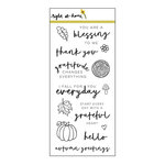 Right At Home - Clear Acrylic Stamps - Grateful Heart