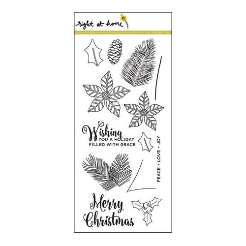 Right At Home - Clear Acrylic Stamps - Christmas Foliage