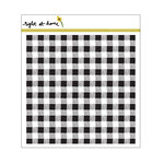 Right At Home - Cling Rubber Stamps - Gingham Background Stamp